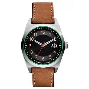 New Armani Exchange Light Brown leather Watch